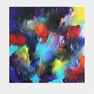 Totally unique abstract acrylic painting on canvas
