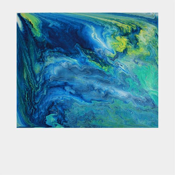 original acrylic pour painting on canvas