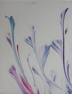 spring acrylic pour on canvas