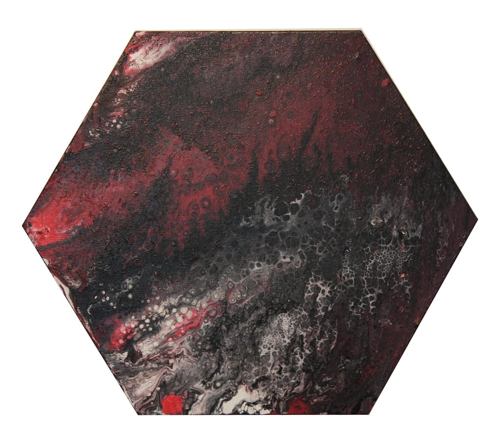 Red and Black Hexagon