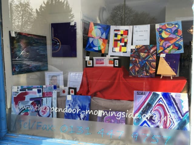 Abstract Paintings window display