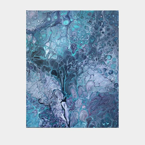 Original abstract acrylic pour painting