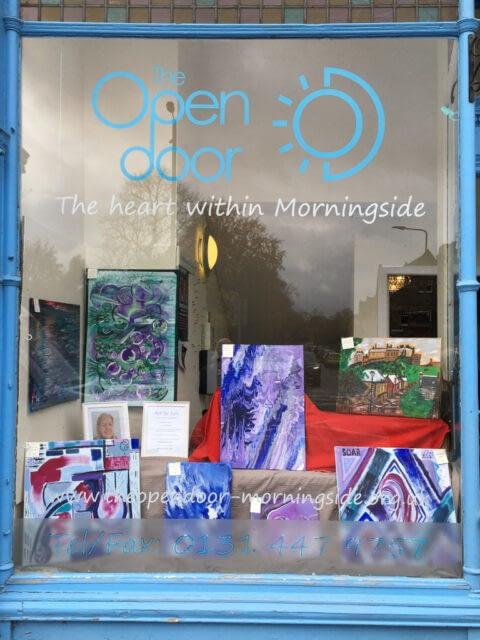 Abstract art window exhibition